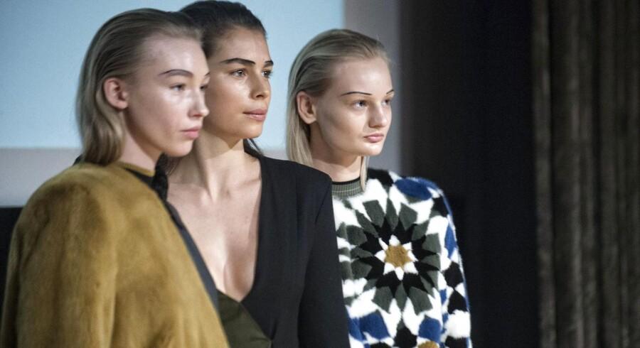 Modeshow fra Freja Dalsjø på Nationalmuseet torsdag d. 29 januar 2015 i forbindelse med Copenhagen Fashion Week. Freja Dalsjø.