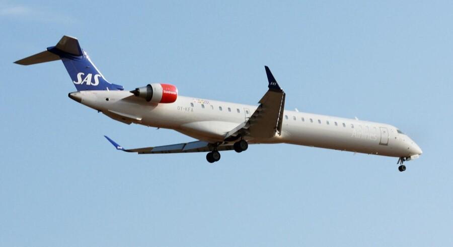 SAS flytter samtlige af sine tolv CRJ900-fly til Cimber. Flyene vil få base i København. Foto: Rriemann