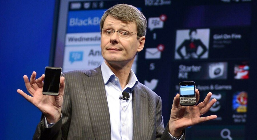 Blackberrys topchef, Thorsten Heins, er på vej ud af selskabet, efter at et salg er opgivet, skriver canadisk avis. Foto: Timothy A. Clary, AFP/Scanpix