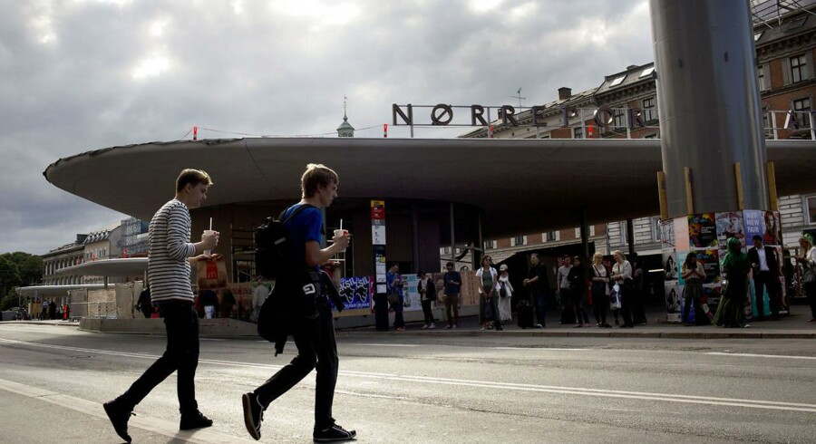 Nørreport station, byggeriet går nu i stå.