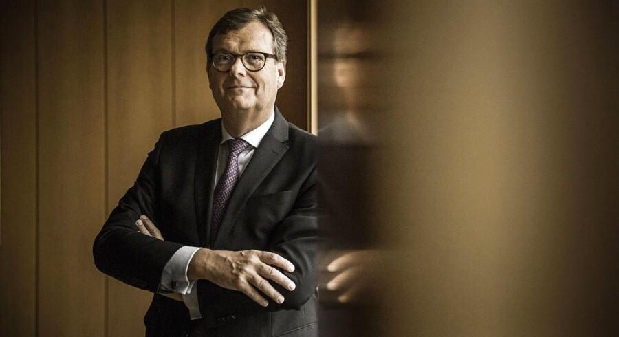 Michael Pram Rasmussen, bestyrelsesformand i A.P. Møller-Mærsk forventer med salget af Danske Bank-aktier et historisk højt udbytte udbetalt til aktionærerne. FOTO: Thomas Lekfeldt/Scanpix.