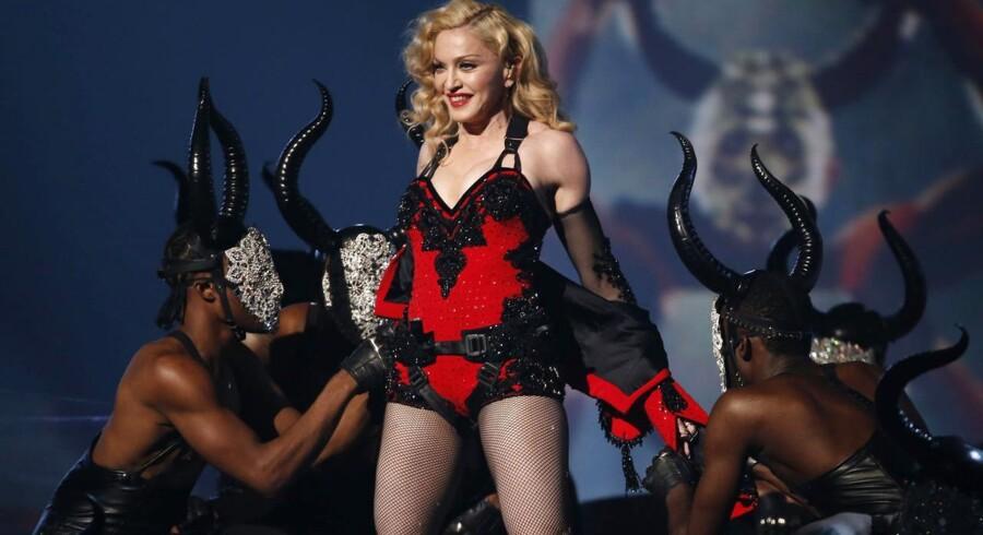 Madonna på scenen ved Grammy Awards i Los Angeles tidligere i år. Foto: REUTERS/Lucy Nicholson