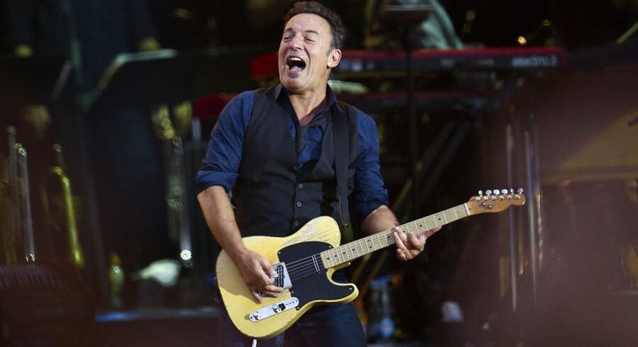 Amerikanske Bruce Springsteen på Orange Scene på Roskilde Festivalen i 2012.