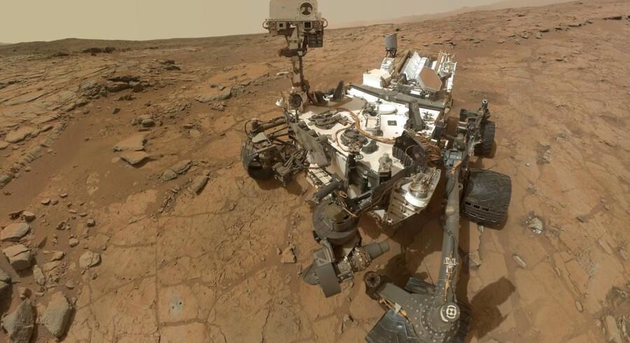 »Curiosity« på mission på Mars.