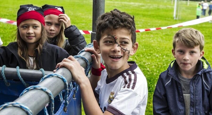Der bliver mindre tid til spas i SFO efter sommerferien. Her børn fra Houlkær Skoles SFO./Foto: Preben Madsen