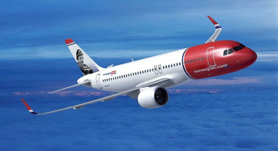 Flyselskabet Norwegian Air Shuttle fløj i december med 1,636 mio. passagerer,