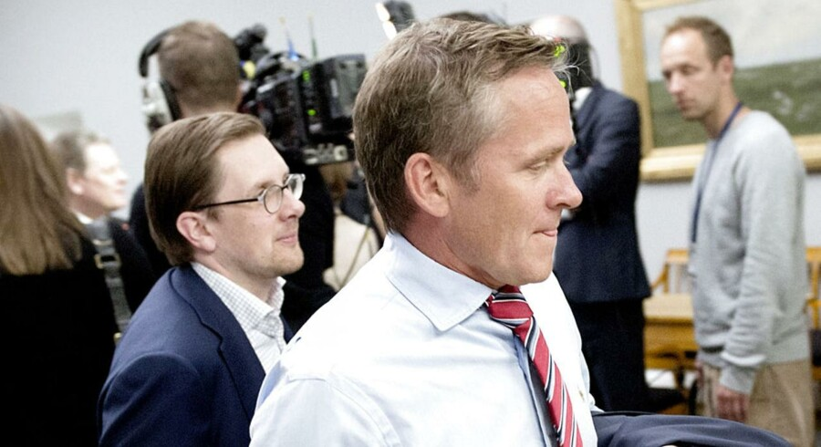 ARKIVFOTO. Anders Samuelsen (forrest) og Simon Emil Ammitzbøl, Liberal Alliance.