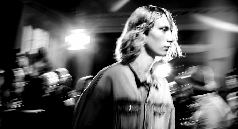 Backstage fra Won Hundred's mode show ved Copenhagen Fashion Week. Won Hundred afholdt show for første gang i 8 år, både for herre og dame tøj i Store Kannikestræde.