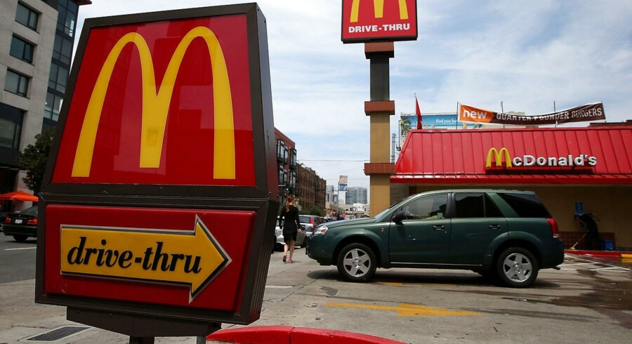 Verdens største restaurationskæde, McDonald's, er atter kommet i fokus i forbindelse med debatten om mindstelønninger i USA. Her en restaurant i San Francisco.