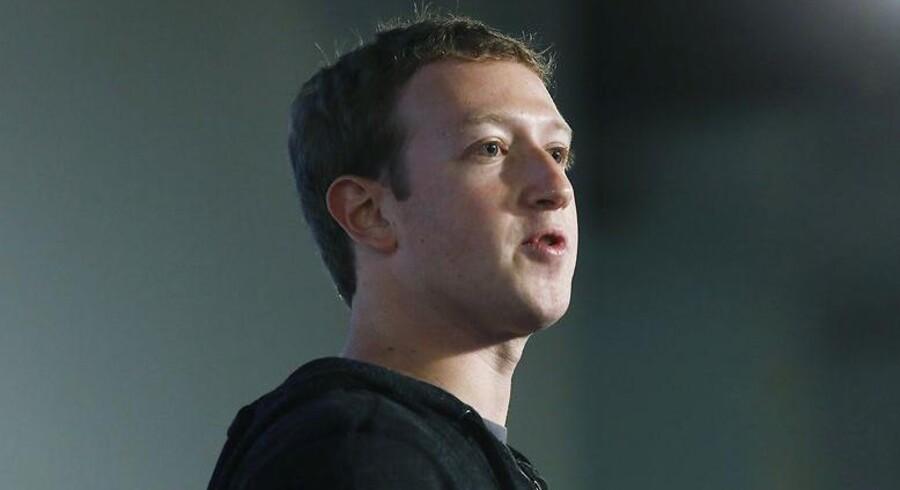 Mark Zuckerberg, topchef og medstifter af Facebook.