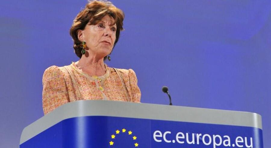 EUs kommissær for den digitale dagsorden, Neelie Kroes, vil tvinge teleselskaberne til at investere i hurtige fibernet. Arkivfoto: Georges Gorbet, AFP/Scanpix