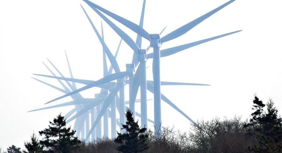 Det kinesiske vindmøllemarked er verdens suverænt største og satte i 2014 rekord med opsætning af 23.350 megawatt ny vindenergikapacitet. ARKIVFOTO