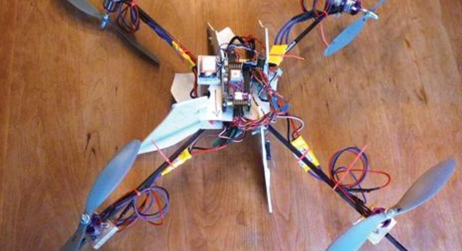 Den hjemmelavede drone. Foto: Paul Wallach