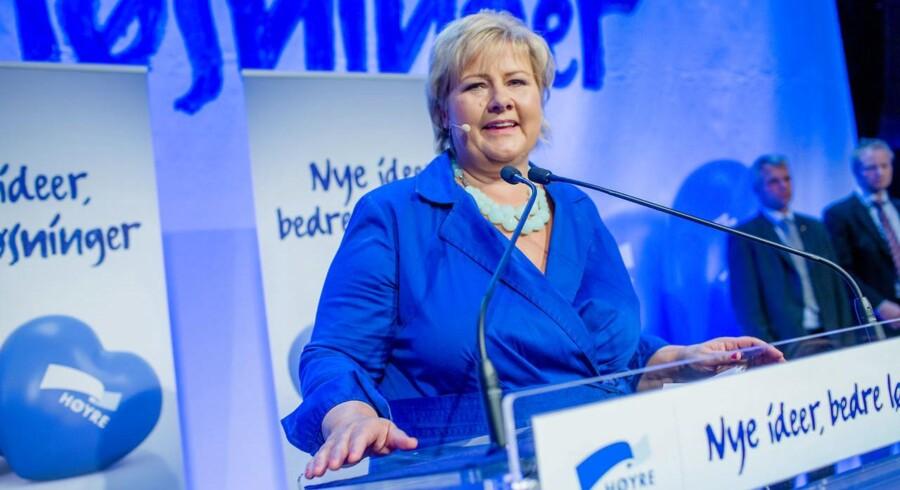 Erna Solberg, leder af Høyre er Norges nye statsminister, efter et kanonvalg. Mandag aften, da resultatet var klart, blev hun og tre andre oppositionsledere hyldet som vinderne af valget ved en stor fest på Radisson Blu i Oslo.