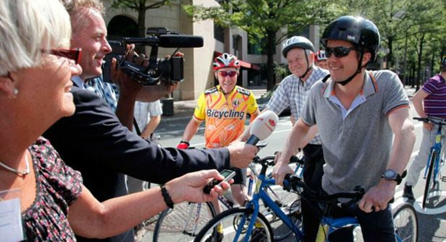 Cyklisme er en samfundsinvestering og ikke bare en behagelig oplevelse for den enkelte. Cyklisme er sundhed, godt miljø – og et stort brand for Danmark i udlandet. Under stor mediebevågenhed tog kronprins Frederik sig således en cykeltur i Washington sidste år. Arkivfoto: