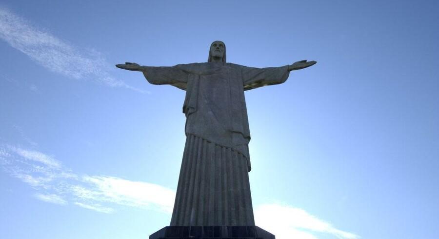 Jesus-statuen i Rio de Janeiro, Brasilien