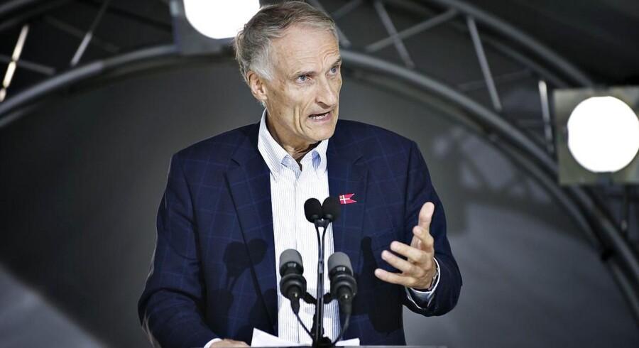 Arkivfoto: Bertel Haarder under en tale på Folkemødet i Allinge i juni 2011.