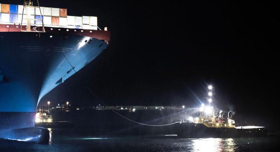 Mærsks nye containerskib, Majestic Maersk, som er verdens største, var i begyndelsen af oktober på besøg i Københavns havn.