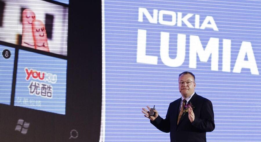 Nokias topchef, Stephen Elop, er hårdt presset af et dårligt salg. Arkivfoto:Soo Hoo Zheyang, Reuters/Scanpix