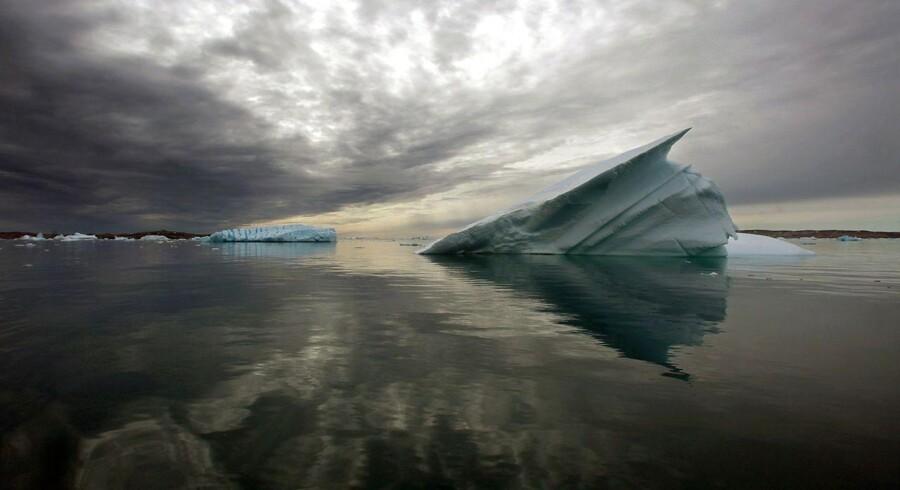 Isbjerg i fjord syd for Tasilaq. Arkivfoto august 2009