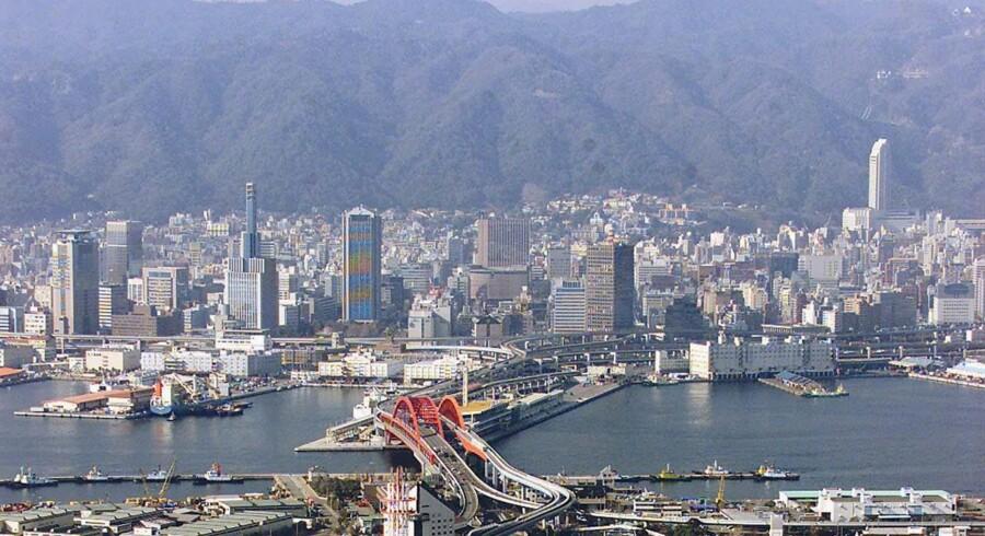 Yamaguchi-gumi blev etableret i Kobes havneområde, hvor gangsterne opkrævede beskyttelsespenge.Foto: Yoshikazu Tsuno/AFP