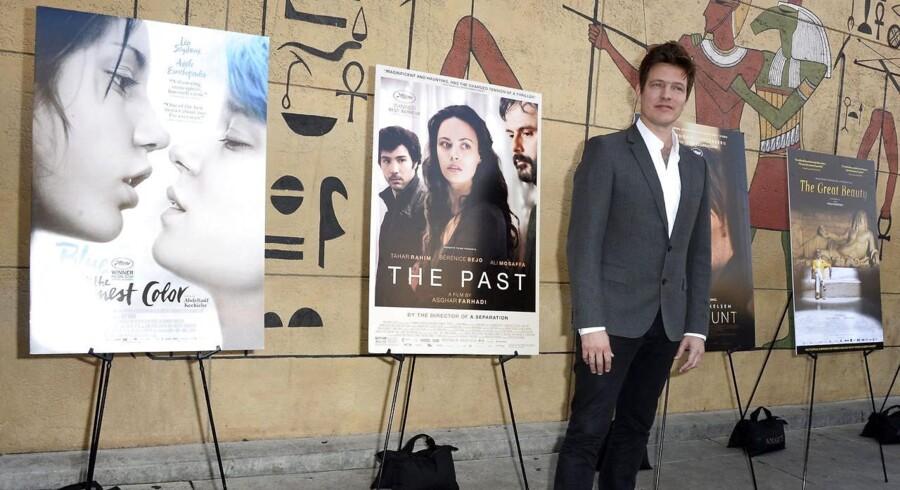 Instruktør Thomas Vinterberg på vej ind til Golden Globe-festlighederne på The Egyptian Theatre i Hollywood Foto: Paul Buck/EPA