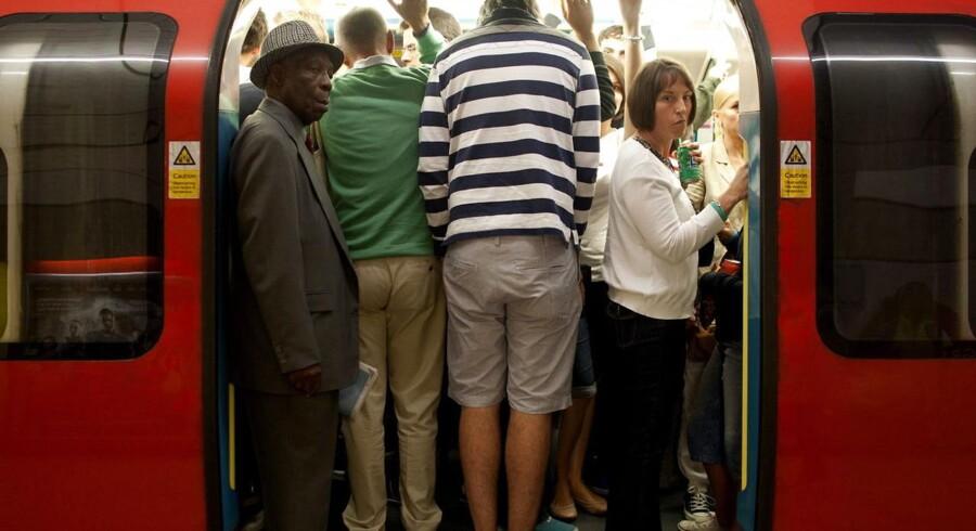 Undergrunden i London er i nogle perioder propfyldt under De Olympiske Lege.