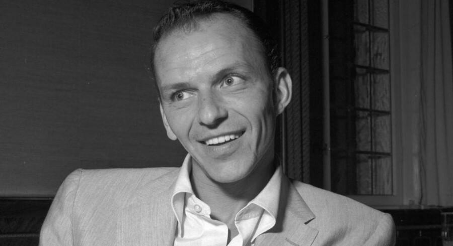 Den amerikanske sanger og skuespilller Frank Sinatra i København i 1953.
