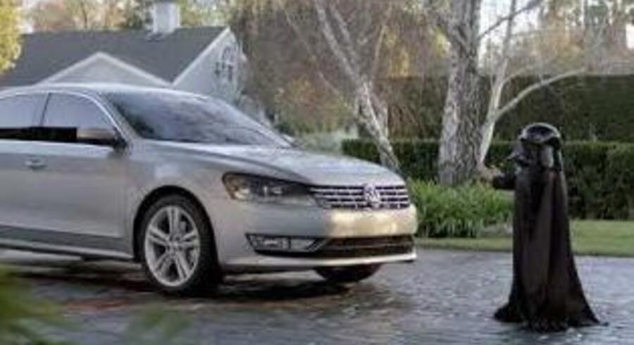 Volkswagen-videoen »The Force« opnåede mere end 57 millioner visninger på YouTube som følge af en enorm medieinvestering i forbindelse med Super Bowl. Still fra videoen