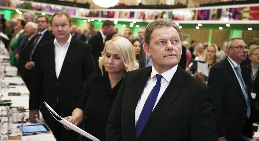 K-formand Lars Barfoed til de konservatives landsråd i Tivoli i København.