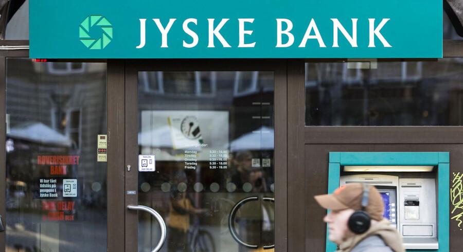 Jyske Bank øger nedskrivninger markant. ARKIVFOTO. (Foto: Jens Nørgaard Larsen/Scanpix 2014)