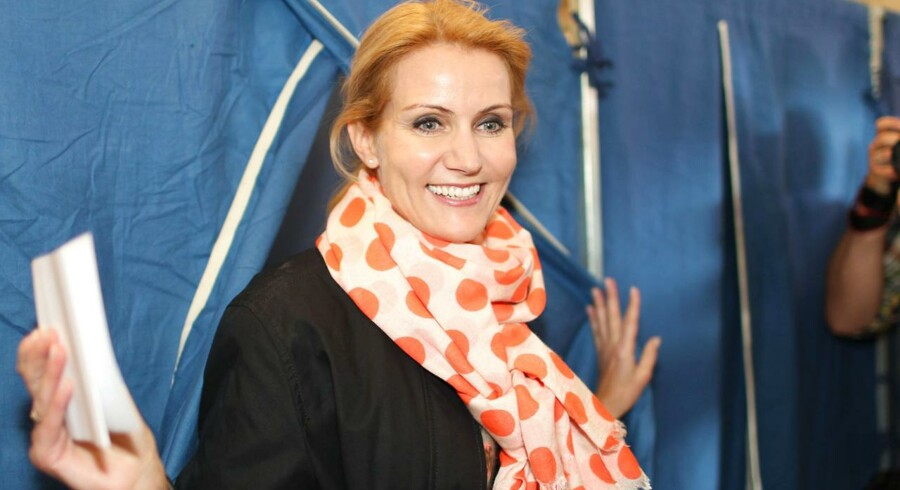ARKIVFOTO 2011 af Helle Thorning-Schmidt, der stemmer til folketingsvalget d. 15. april 2011.
