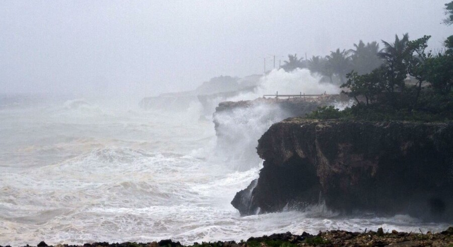 Den tropiske storm Chantal, der ramte Caribien i 2013.