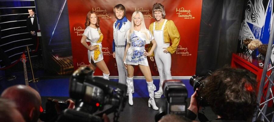 Voksfigurer af de fire ABBA-folk i velkendt dress er naturligvis blandt effekterne på det ny ABBA-museum.