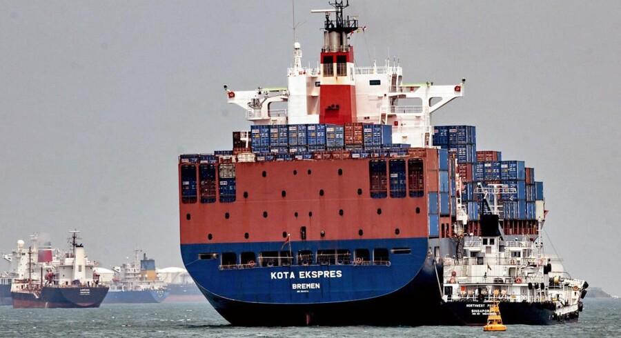 Rederiet Neptune Orient Lines, NOL, oplever en stor stigning efter nyheden om opkøb.