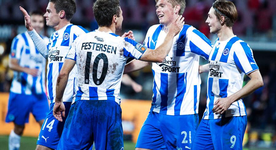 Rasmus Festersen (10) lavede hattrick for OB mod FCN: »Det her vil jeg huske,« sagde han efter kampen.