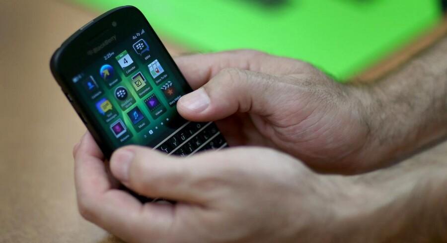 Canadiske Blackberry var tidligere erhvervslivets foretrukne telefonmærke men blev slået af pinden af Samsung og Apple, og det har været svært at forsøge at komme tilbage. Foto: Joe Raedle, AFP/Scanpix