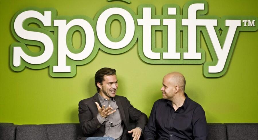 De svenske grundlæggere af Spotify, Daniel Ek og Martin Lorentzon, er klar til at indtage Danmark.