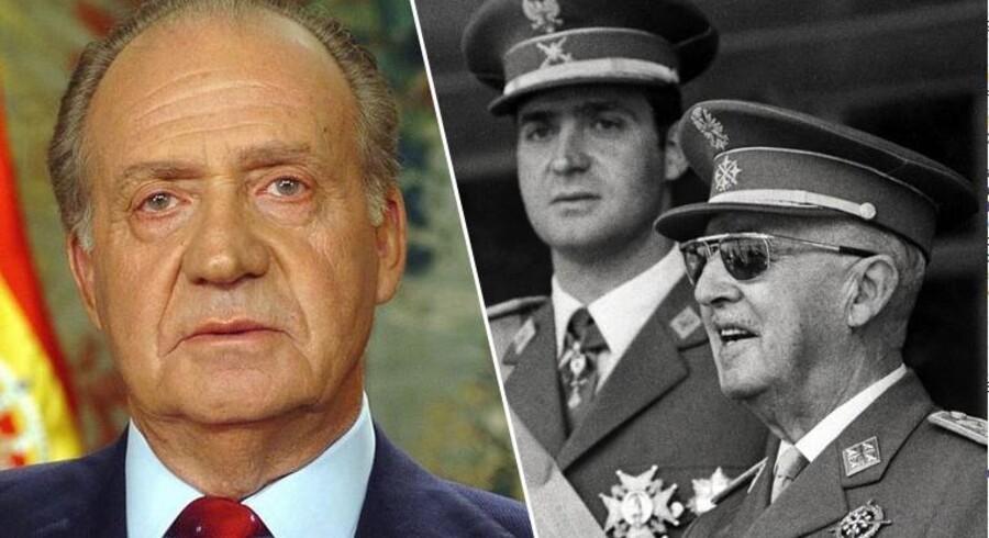 Den skandaleramte spanske konge Juan Carlos abdicerer. Han overlader tronen til sin søn, den 46-årige kronprins Felipe, oplyste landets premierminister, Mariano Rajoy, i dag mandag. Juan Carlos, der har været konge af Spanien siden 1975, træder tilbage efter en periode med dårligt helbred.  Kongen, der blev udnævnt til general Francos efterfølger, gjorde gennem årene op med det spanske diktatur og konservatisme, og det konstitutionelle monarki vandt indpas på den iberiske halvø.  Det har naturligvis også gjort kongens liv og levned til en omdiskuteret affære. De seneste år er kongen og kongehuset blevet kritiseret for overforbrug af penge imens landet er i økonomisk krise. Sidespring er det også blevet til i Juan Carlos' 52 år lange ægteskab med dronning Sofia, prinsesse af Danmark og Grækenland.  For blot to år siden blev det offentligt kendt, at kongen havde haft en affære med sin personlige assistent, danske Corinna Larsen.  I dag blev det så annonceret, at kongen abdicerer og overlader tronen til sin søn, den 46-årige kronprins Felipe.