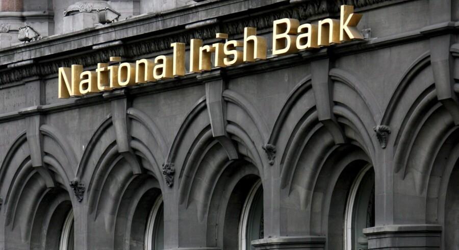 Danske Bank besluttede torsdag at lukke National Irish Bank, som banken opkøbte i 2004 under navnet Northern Bank. Foreløbig har det kostet Danske Bank adskillige milliarder kroner. Arkivfoto: Andy Rain/EPA