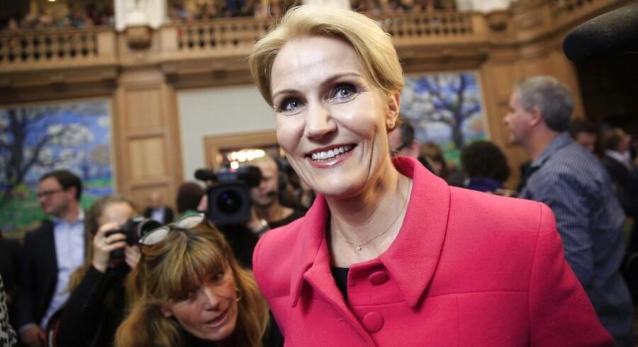 Folketingets åbning tirsdag d. 7. oktober 2014. Helle Thorning-Schmidt i Folketingssalen. (Foto: Thomas Lekfeldt/Scanpix 2014)