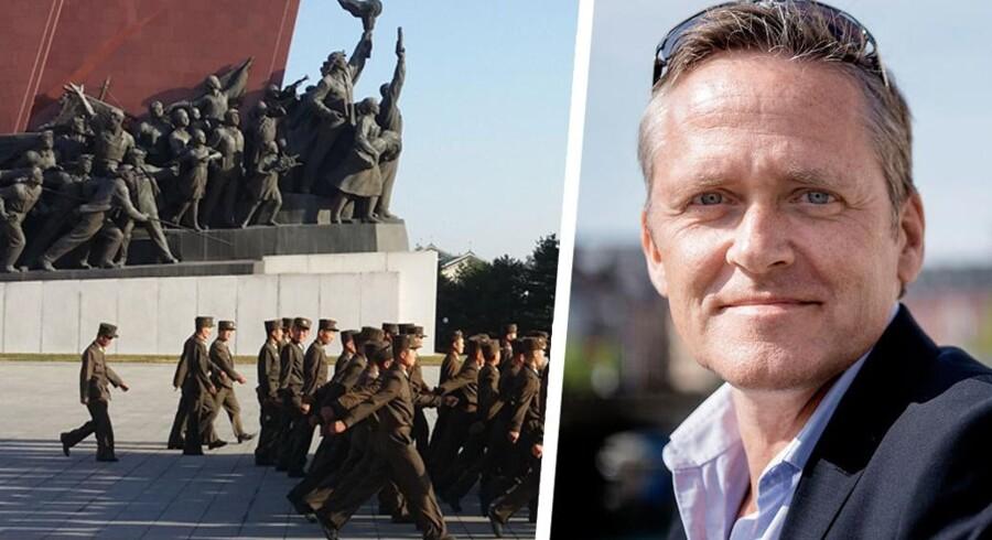 Liberal Alliances partileder tilbragte sin efterårsferie i det kommunistiske diktatur Nordkorea. Se hans private billeder fra turen her.