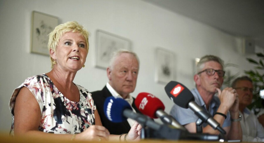 Lizette Risgaard, næstformand i LO holder pressemøde efter domsafsigelse i Ryanair-sagen onsdag d. 1 juli 2015 i København. (Foto: Niels Ahlmann Olesen/Scanpix 2015)
