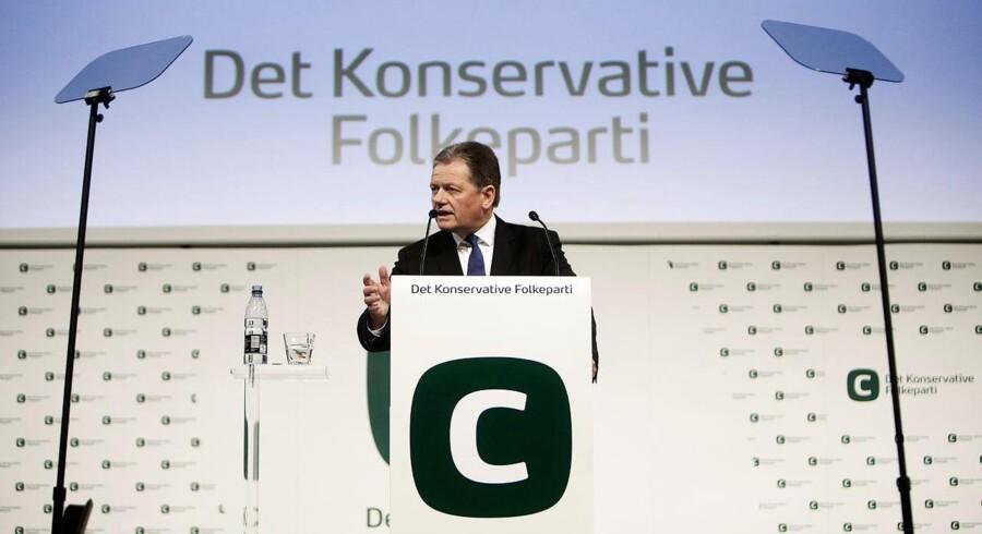 Formand for Det Konservative Folkeparti, Lars Barfoed, taler til partiets landsråd i Tivoli Hotel & Kongress i København.