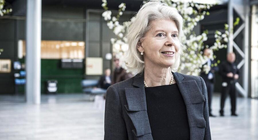 A.P. Møller-koncernens pengetank, A.P. Møller Holding, køber rederiets aktiepost i Dansk Bank. Vi skal sikre forankringen af banken, lyder det fra Ane Mærsk Mc-Kinney Uggla. ARKIVFOTO