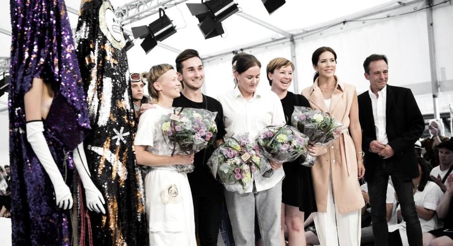 Kronprinsesse Mary med vinderne af talentshowet. Designer's Nest Talent & Award Show fik besøg af protektor H.K.H Kronprinsesse Mary i Kødbyen fredag den 7. august 2015.