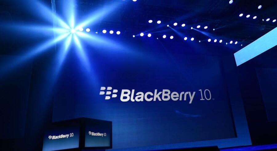 Livet er hårdt for canadiske Blackberry, hvis telefoner ikke sælger så godt som ønsket. Anslået 70 millioner bruger dagligt en Blackberry-telefon på verdensplan. Arkivfoto: Timothy A. Clary, AFP/Scanpix
