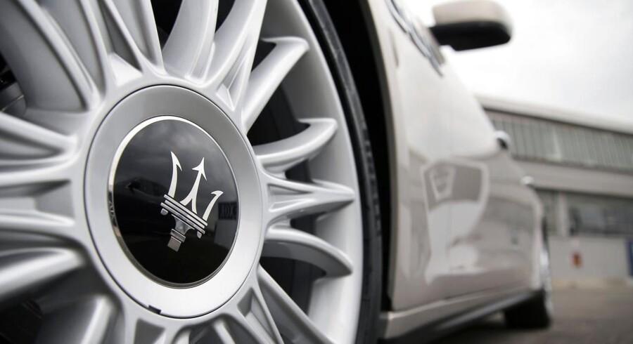 Biludlejningsselskabet Hertz udbyder nu blandt andet Maserati Quattroporte i Spanien til danskerne, som er ved at miste interessen for små sommerferiebiler. Arkivfoto.