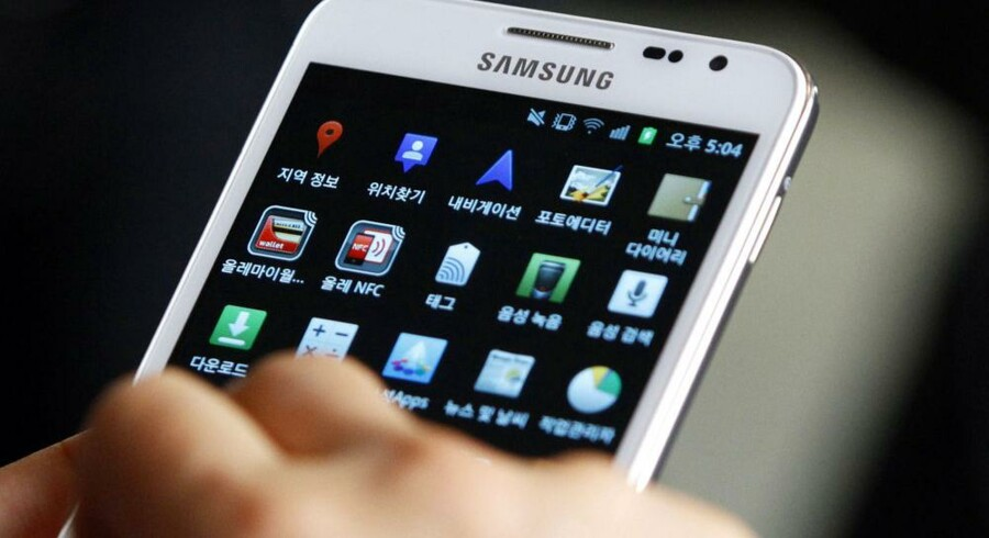 Samsungs Galaxy-telefoner storsælger - så meget, at Nokias førerposition nu trues. Foto: Kim Hong-ji, Reuters/Scanpix