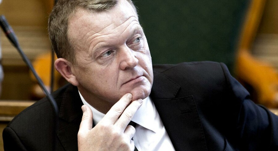 Lars Løkke Rasmussen i Folketingssalen.